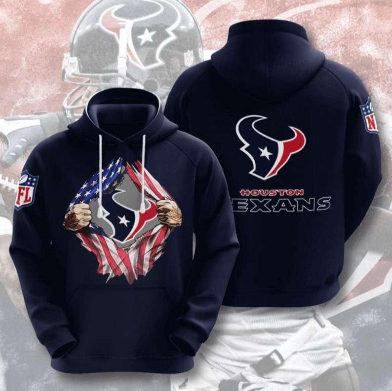 Houston Texans NFL Football 3D Hoodie