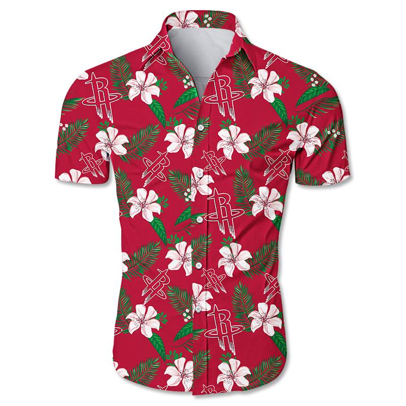 NBA Houston Rockets Floral Hawaiian Shirt Small Flowers