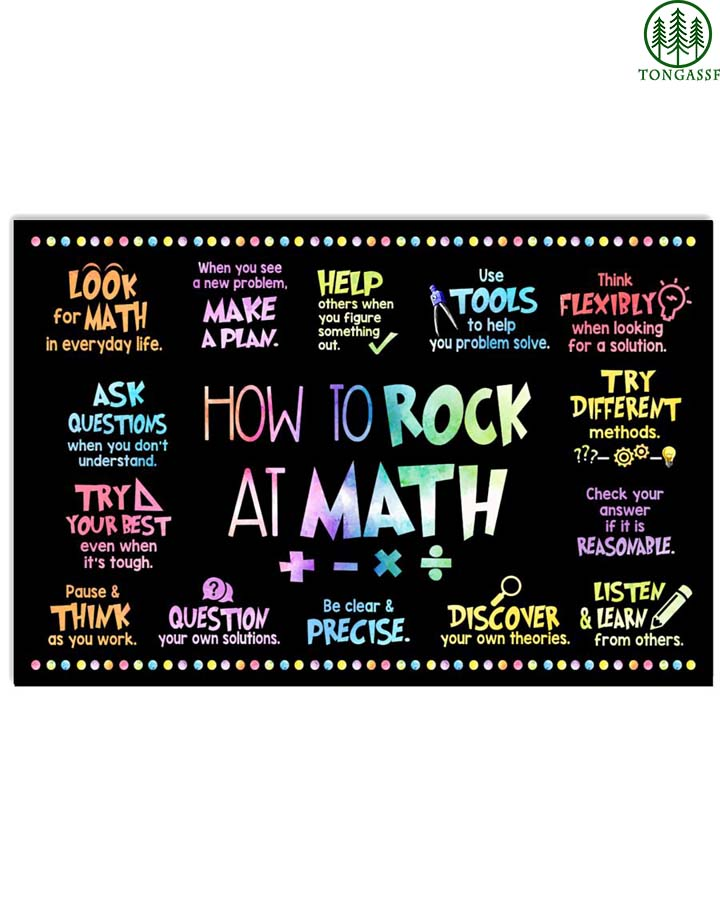 How to rock at math Classroom poster