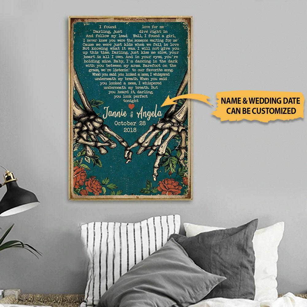 Personalized I Found A Love For Me Skeleton Custom Name Poster