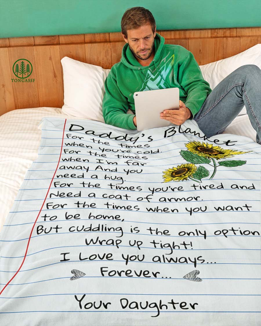 I Love You Always Forever Daddy Fleece Blanket