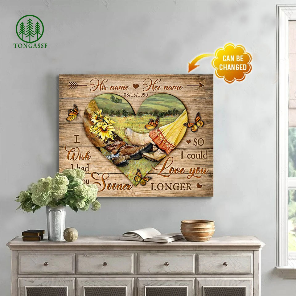I Wish I Had Met You Sooner Custom Coupes Name And Date canvas