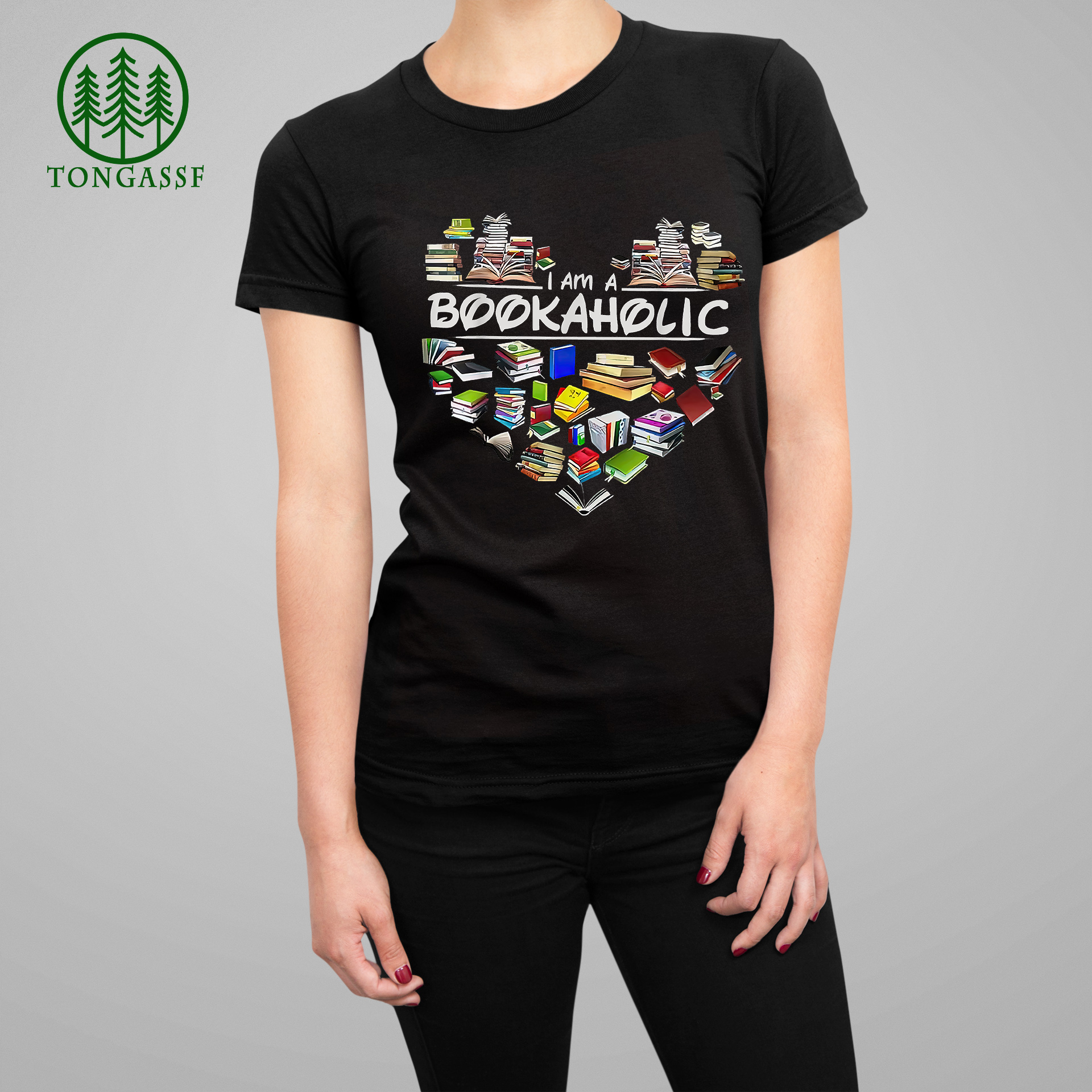 I am a Bookaholic Reading Book Lovers Heart T Shirt