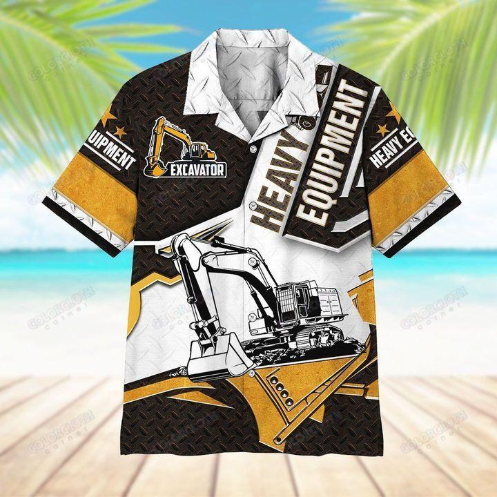 Excavator Heavy Equipment Hawaii Shirt