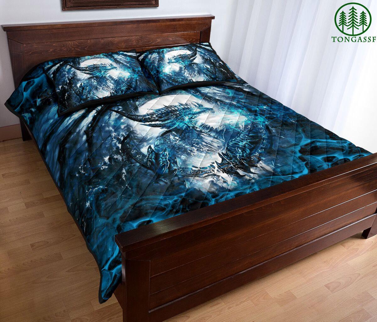 Icy Dragon Bedding Set
