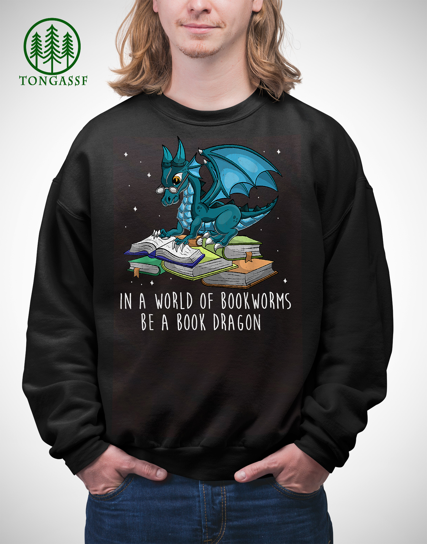 In A World Full Of Bookworms Be A Book Dragon T Shirt