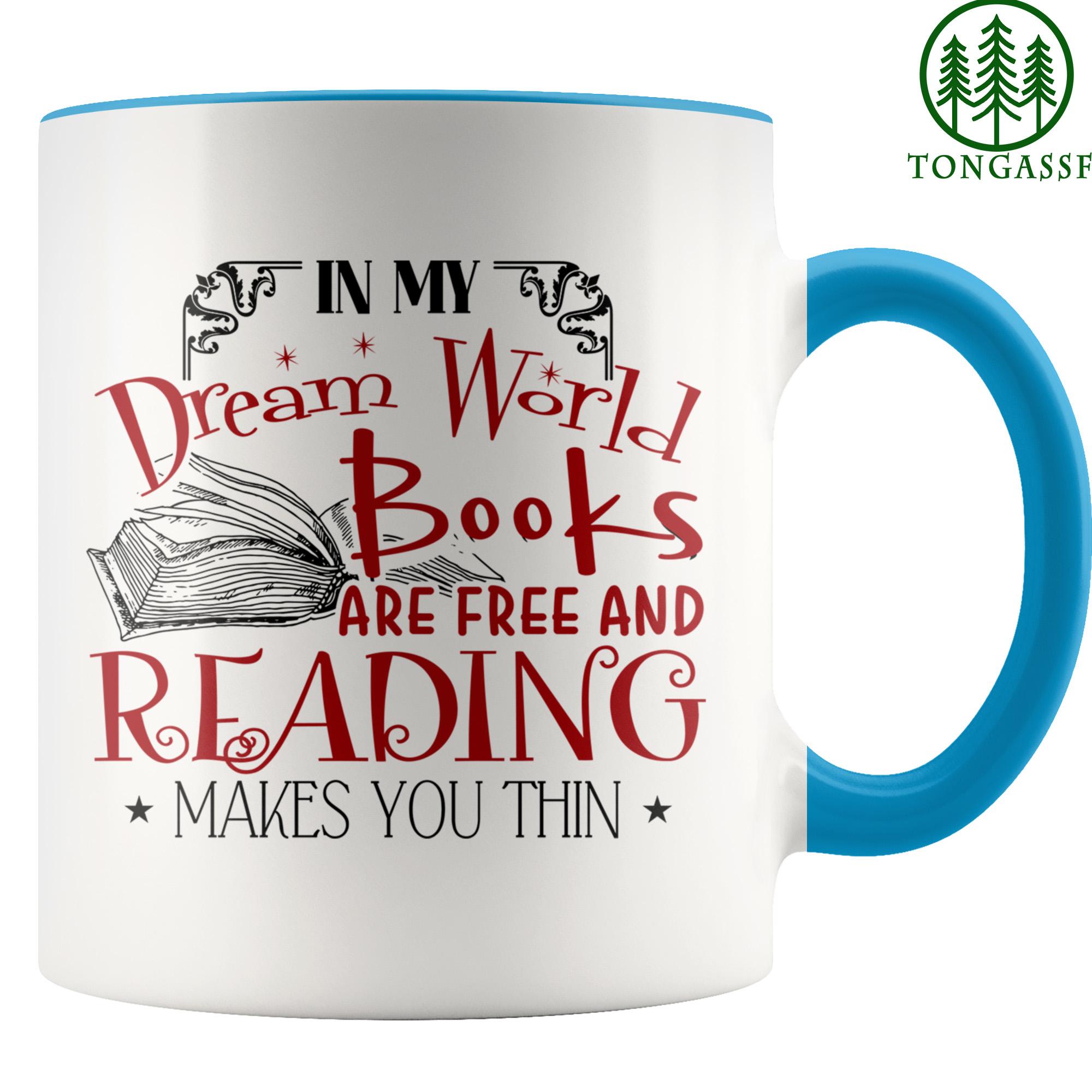 In My Dream World Book Lover Accent Mug