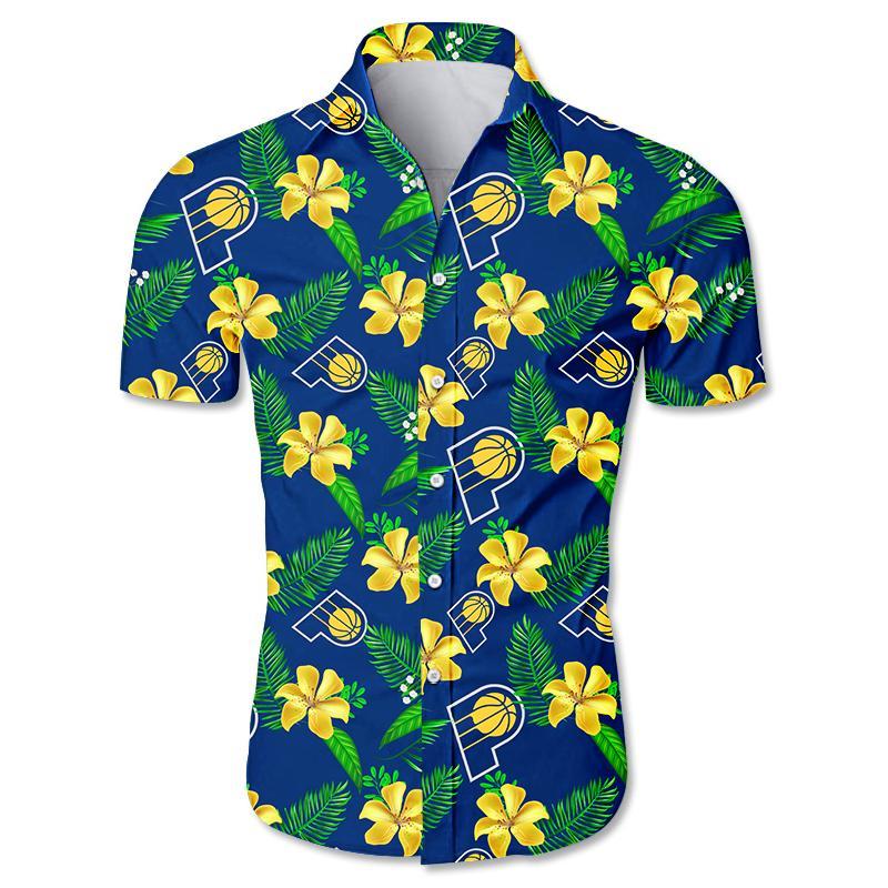 NBA Indiana Pacers Floral Hawaiian Shirt Small Flowers