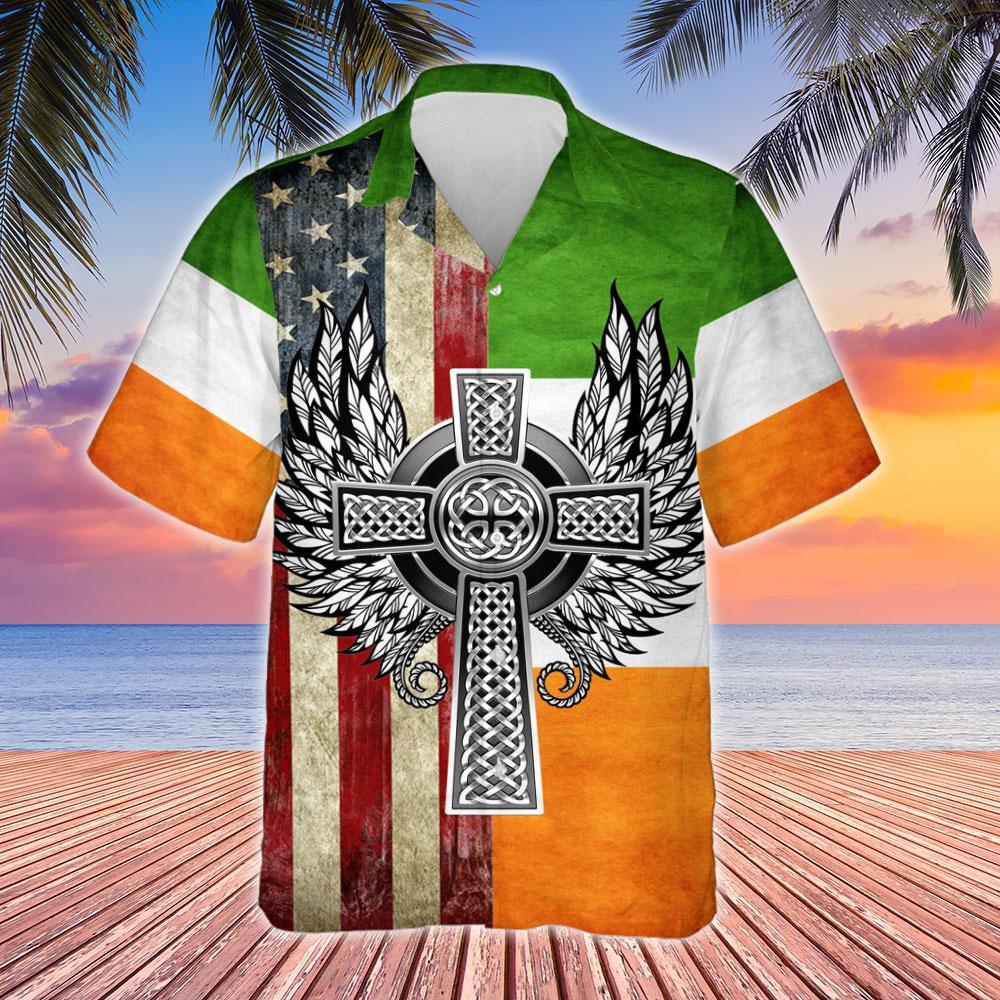 Irish By Blood American By Birth Patriot By Choice Hawaiian Shirt 2