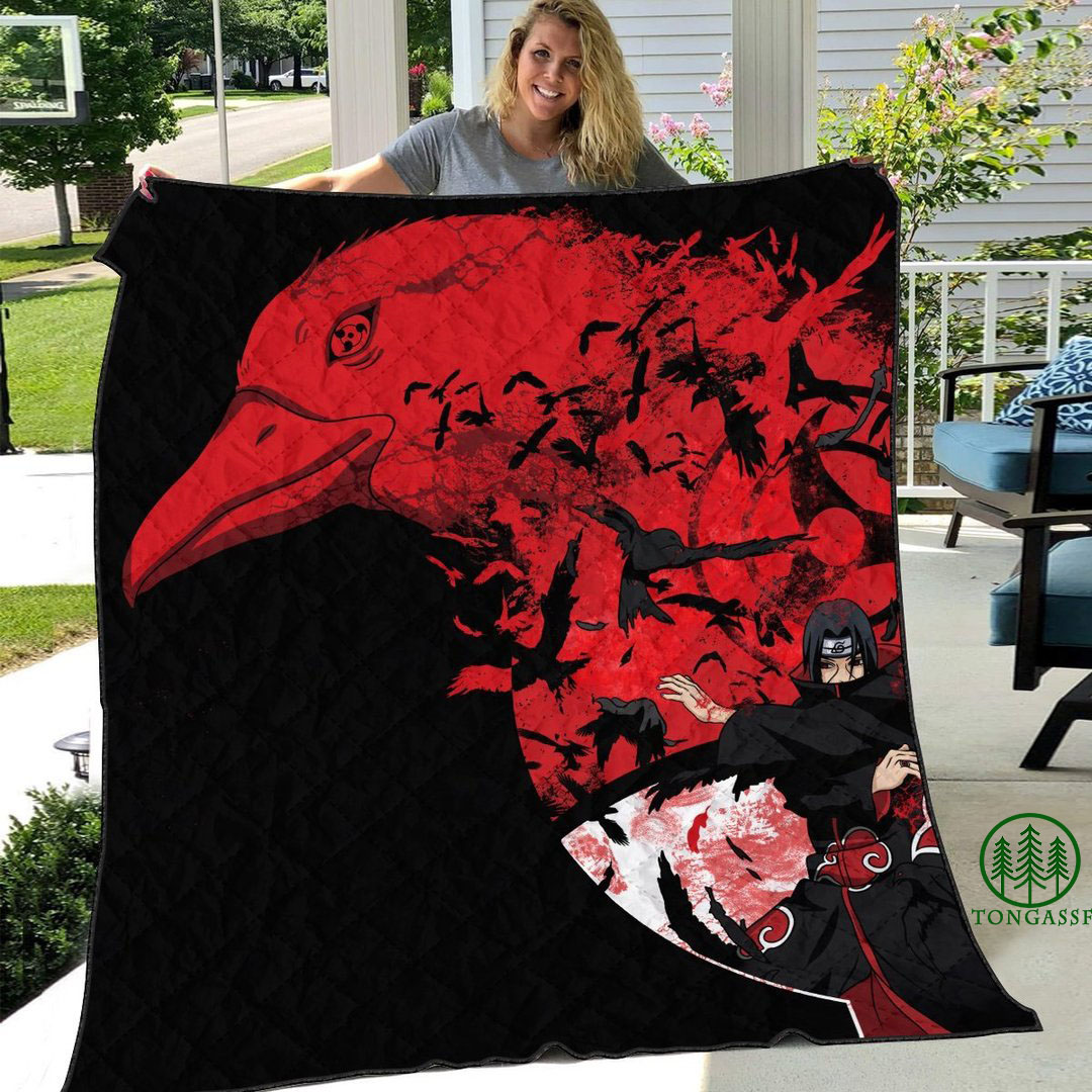 Itachi Tsukuyomi quilt blanket