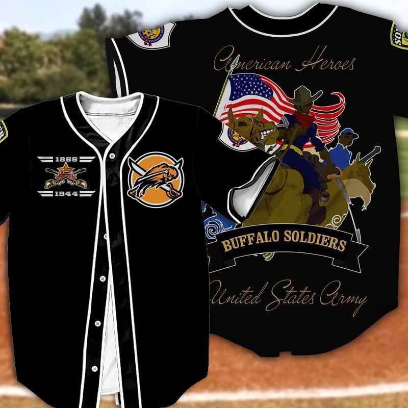 Buffalo Soldiers Baseball Jersey Shirt