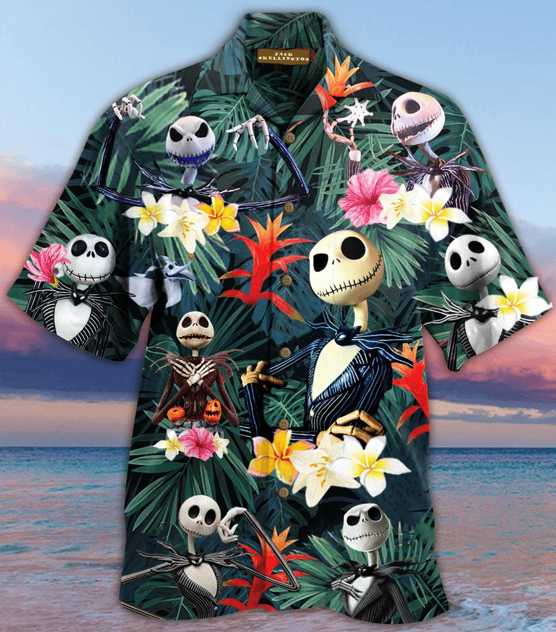 Jack Skellington Hawaiian Shirt
