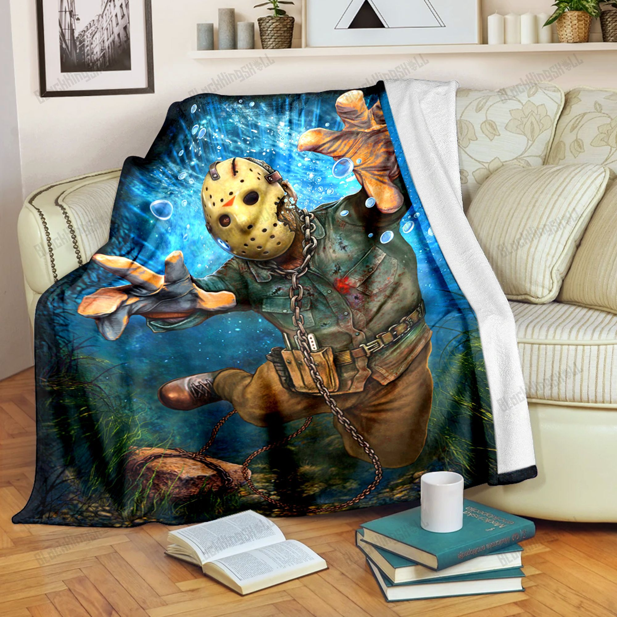 Jason Voorhees Friday the 13th Fleece Blanket