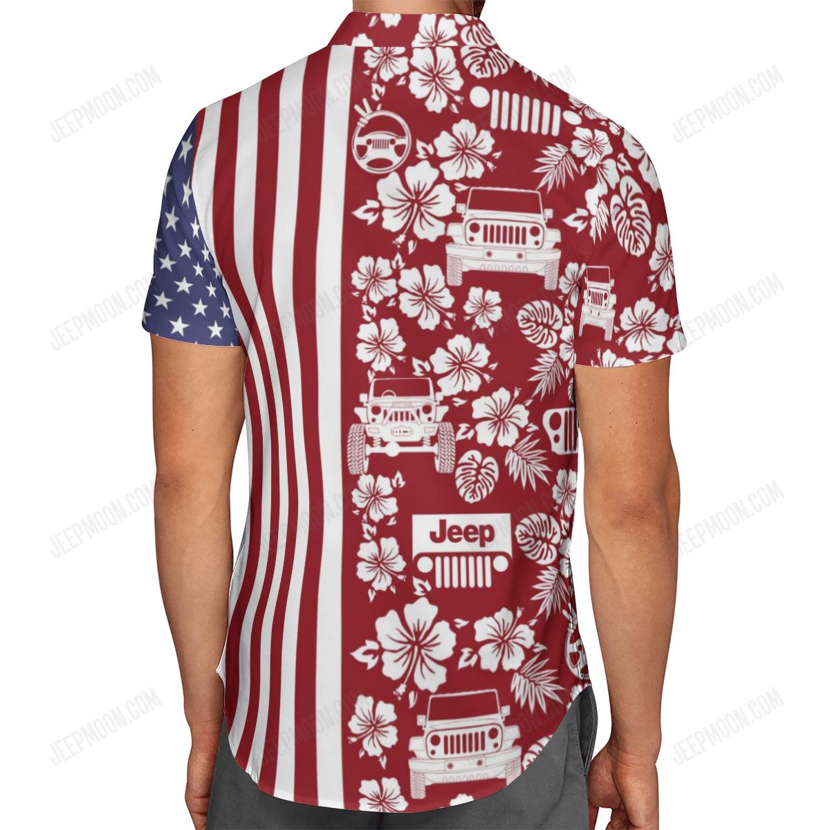 Jeep American Flag Hawaiian Shirt 3