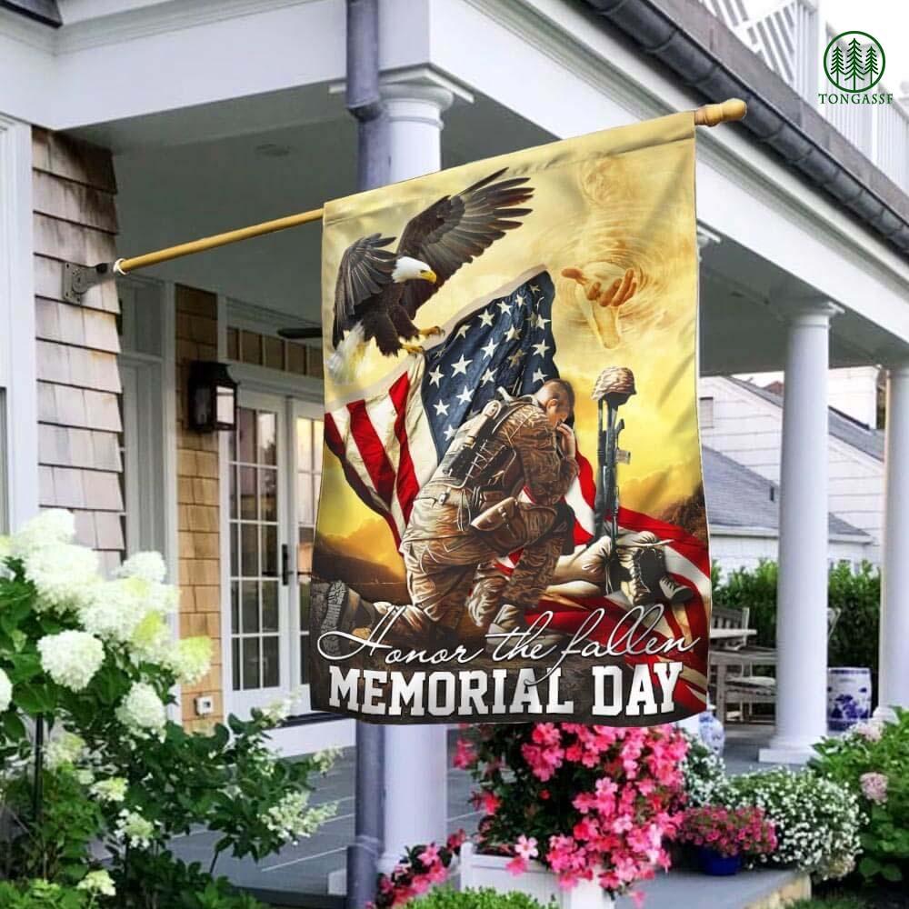 Jesus God United States Veteran Honor The Fallen Memorial Flag