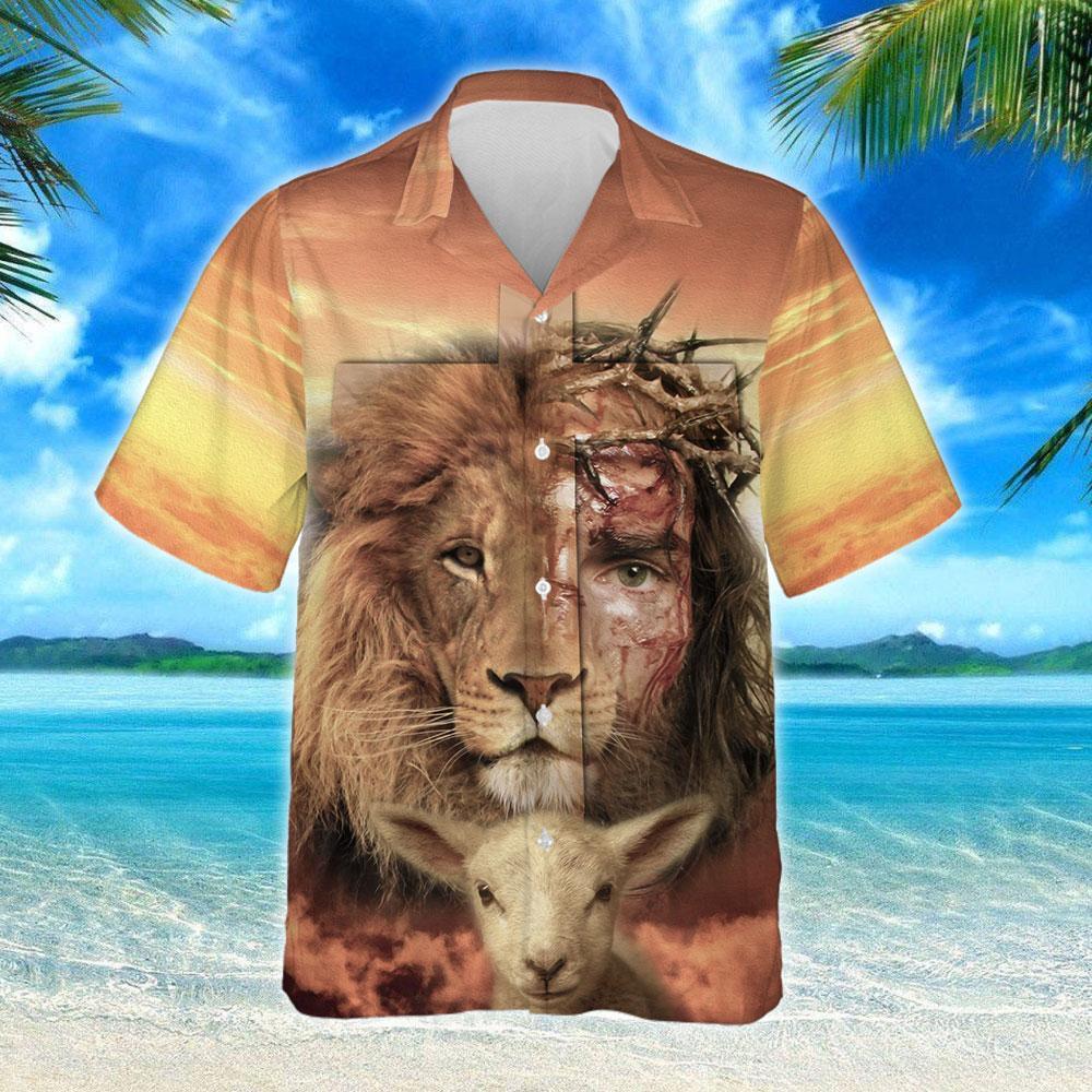 Jesus Is Risen Lion Hawaiian Shirt 2
