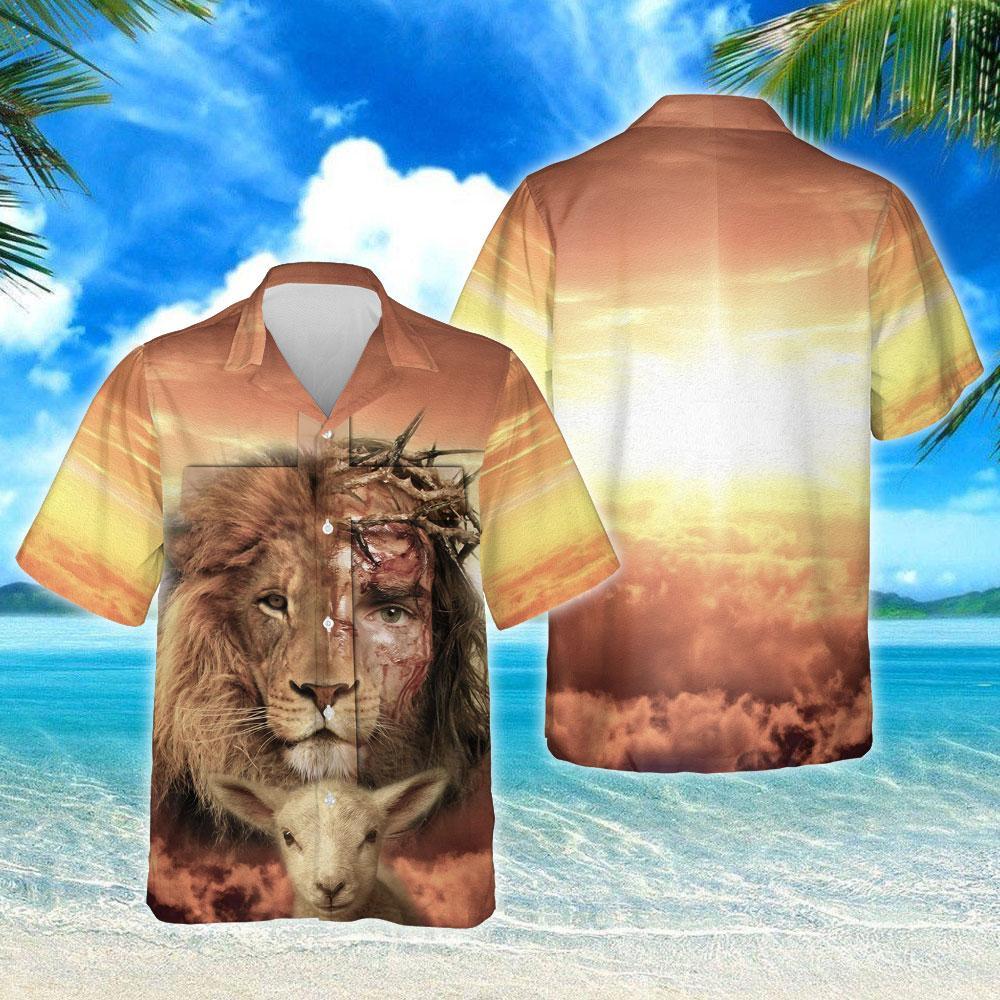 Jesus Is Risen Lion Hawaiian Shirt