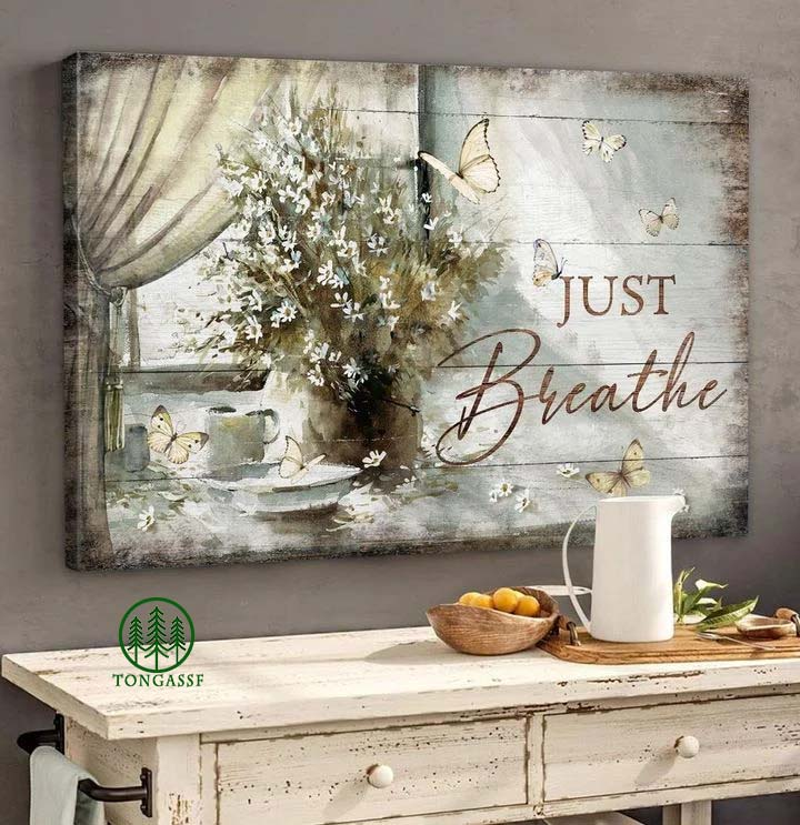Jesus Just Breathe Canvas
