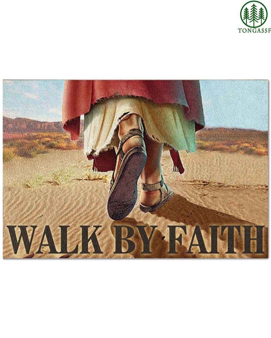 Jesus Walk By Faith Doormat