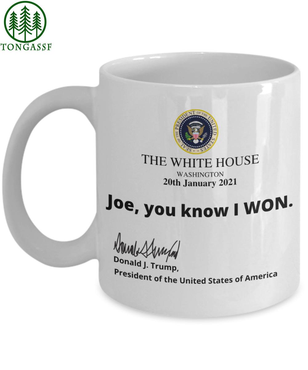 Joe you know I Won White House ceramic mug