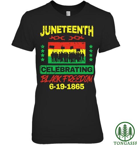 Juneteenth black freedom celebrate shirt 6