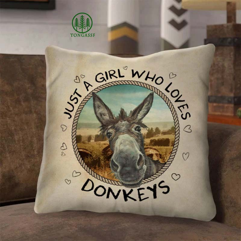 Just A Girl Who Loves Donkeys Pillow Case