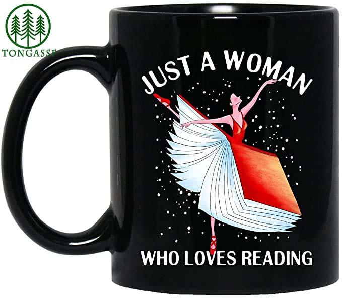 Just a woman who love reading ballet mug