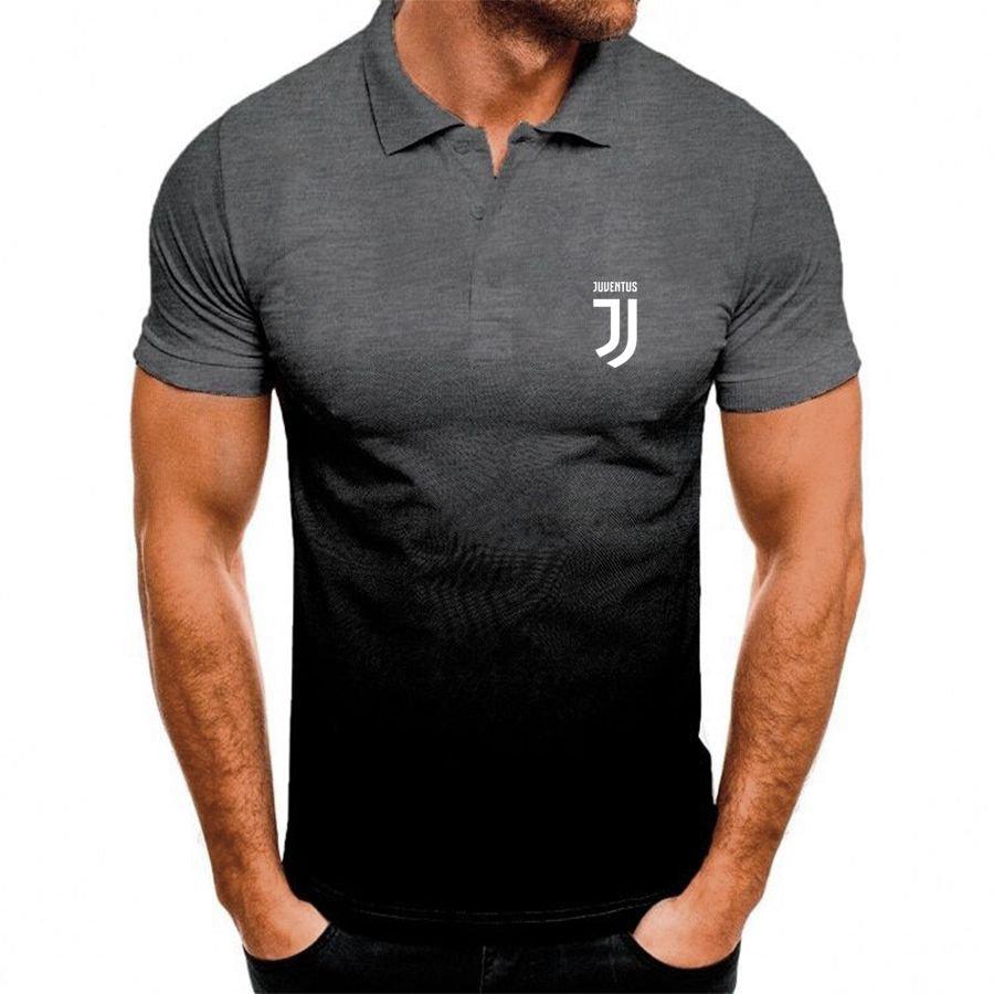 Juventus FC football club gradient Polo Shirt
