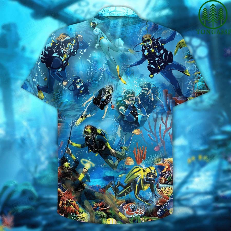 LIFE IS THE BETTER WITH DIVING HAWAIIAN SHIRT