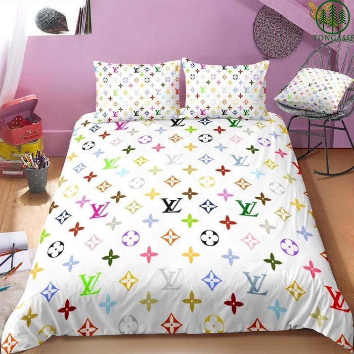 LV Louis Vuitton colorful logo Bedding Set