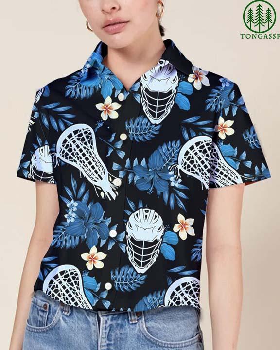 Lacrosse Floral Hawaiian Shirt