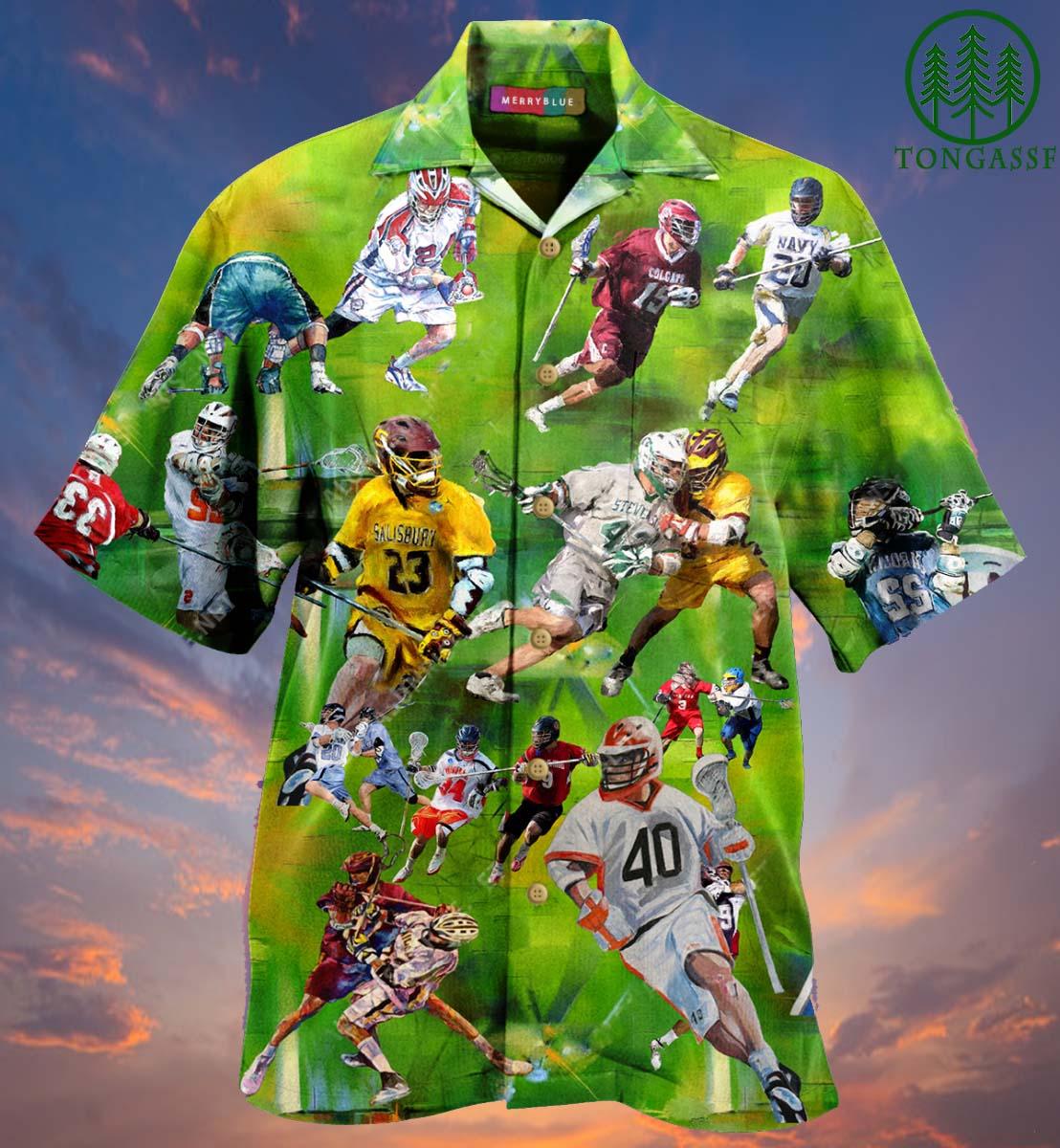 Lacrosse Match Player Hawaiian Shirt