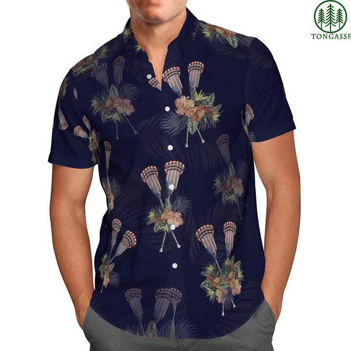 Lacrosse Tropical Hawaiian Shirt