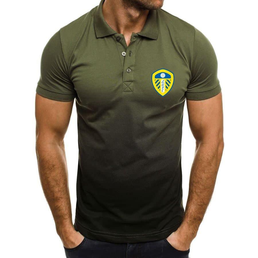 Leeds United LUFC Gradient Polo Shirt 1