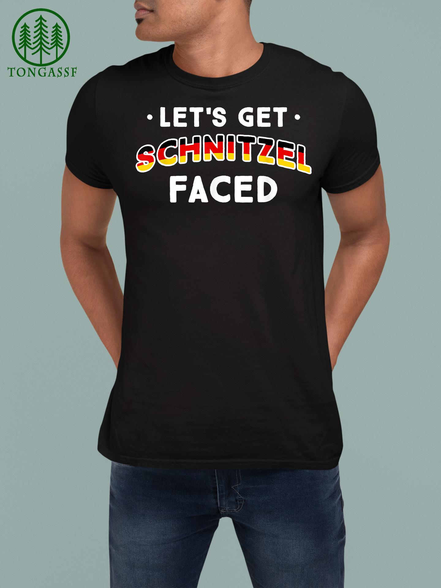 Let's Get Schnitzel Faced Germany Oktoberfest German Shirt