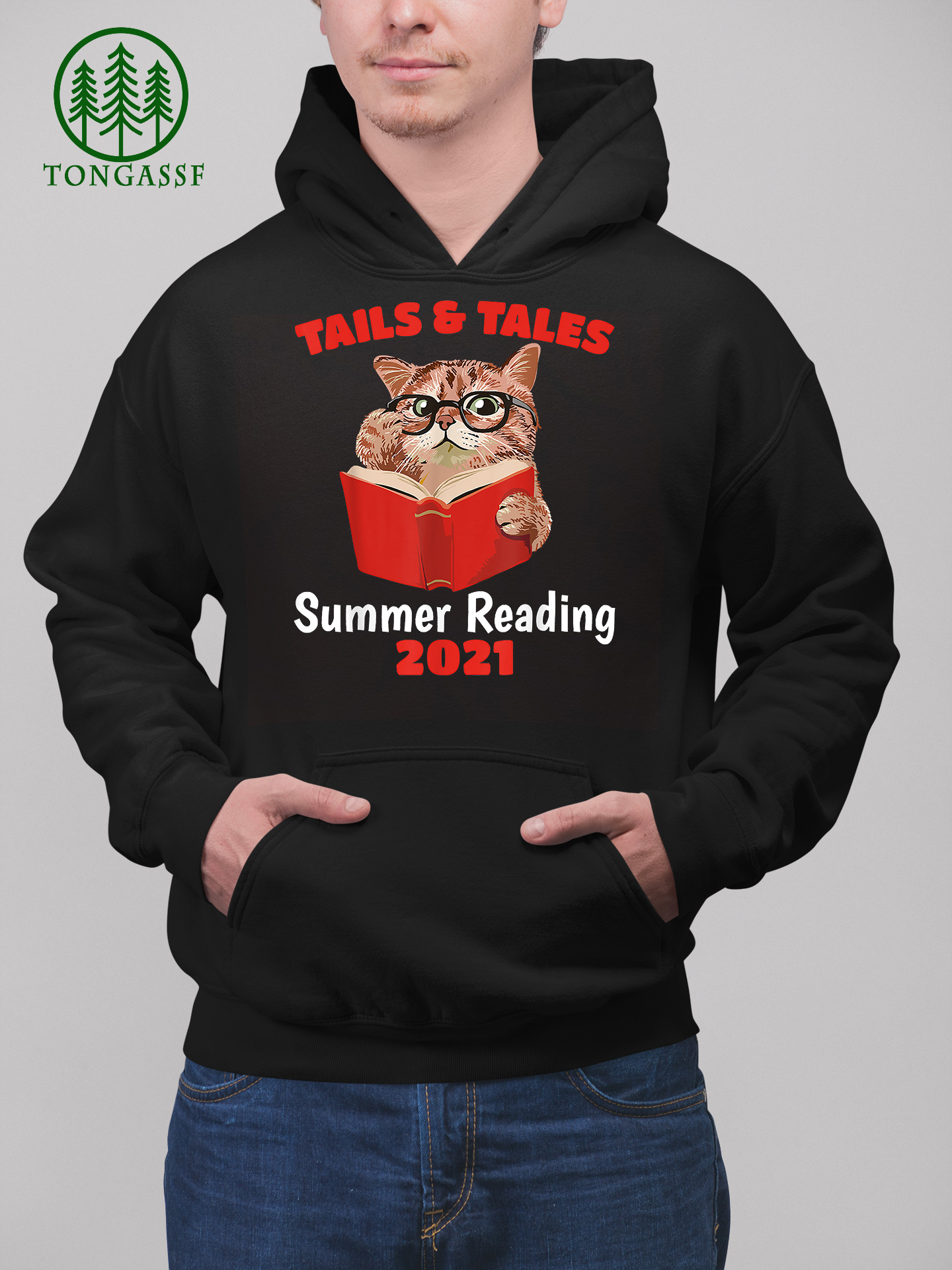 Librarian Prize Book Cat Tails and Tales Summer Reading 2021 T Shirt