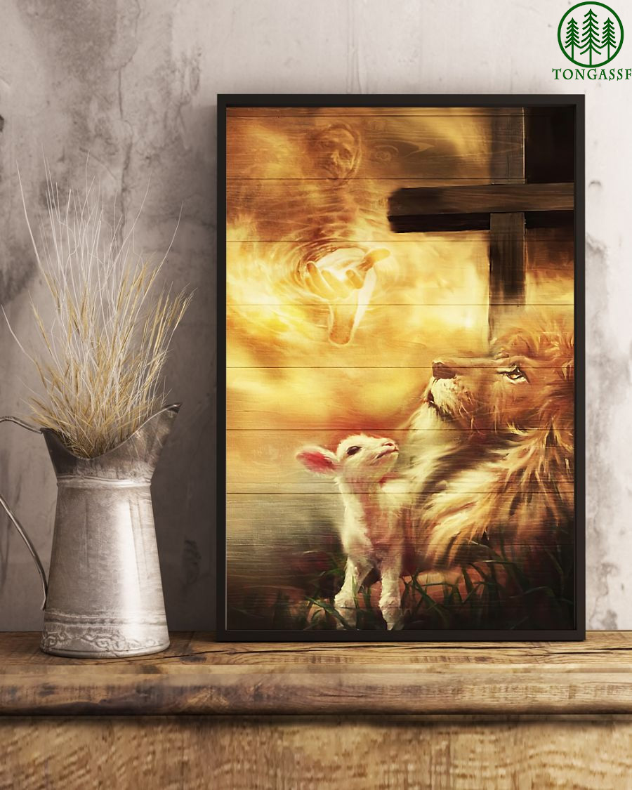 Lion And Lamb Jesus poster