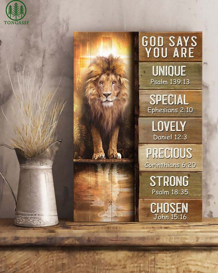 Lion God Says You Are Canvas