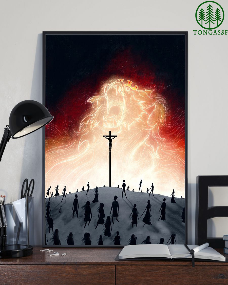 Lion King And Jesus poster