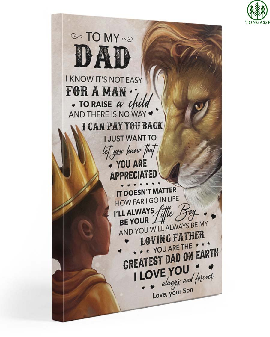 Lion King Son To My Dad I Love You Always And Forever Wrapped Canvas Prints