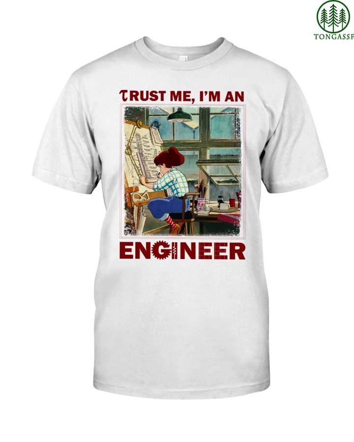 Little girl Trust me I am an engineer T Shirt
