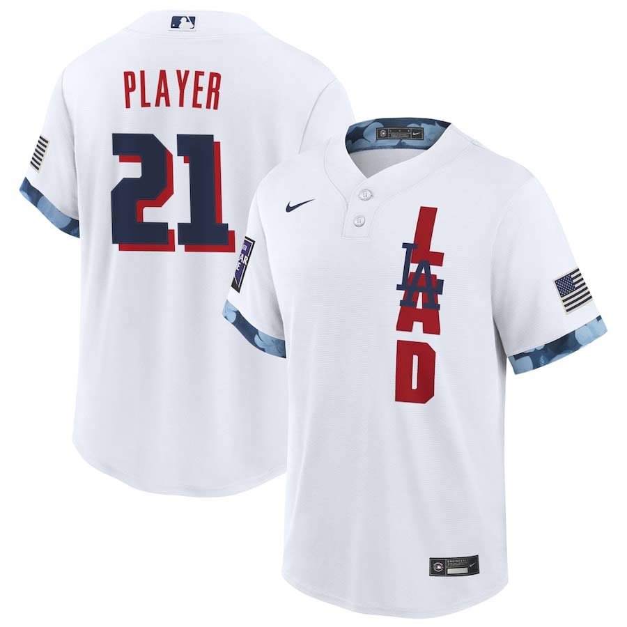 Los Angeles Dodgers Nike White 2021 MLB All Star Game Custom Replica Jersey
