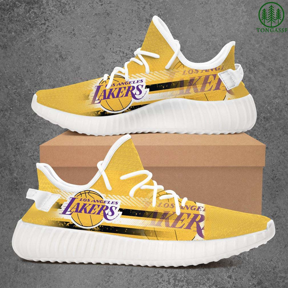 Los Angeles Lakers Nba Basketball Yeezy Sneakers Shoes