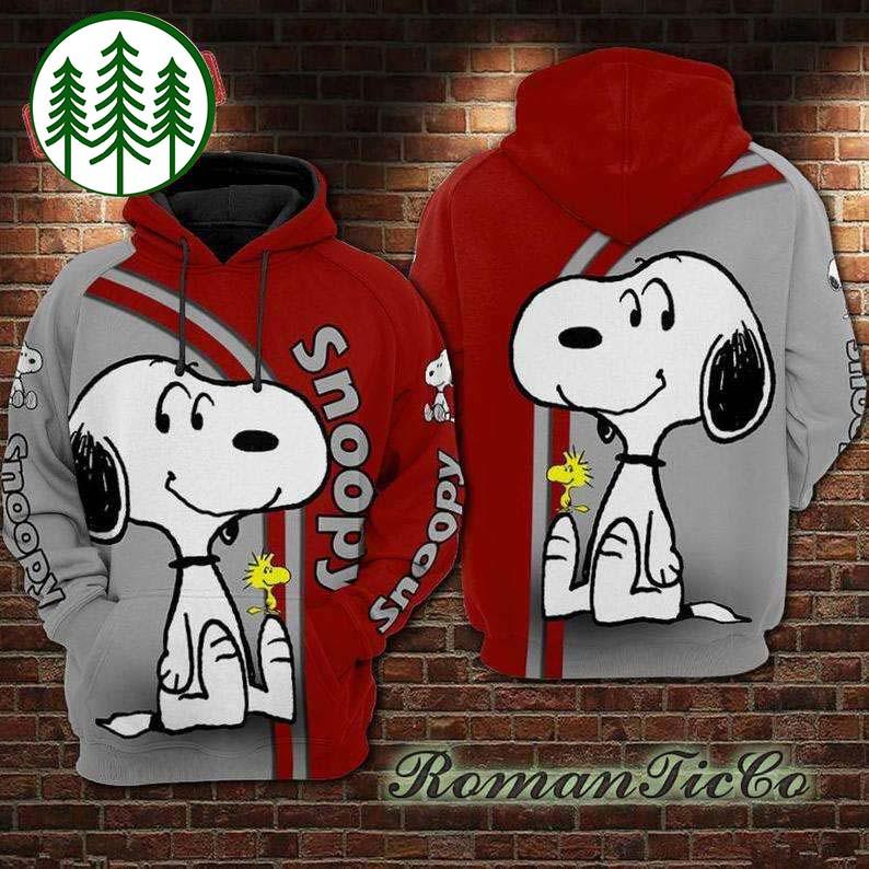 Love Charlie Brown Snoopy All Over Printed 3 Hoodie