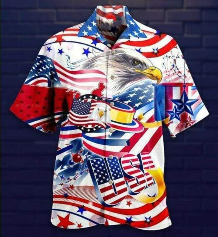 Love Freedom Love America 3D Hawaii Shirt