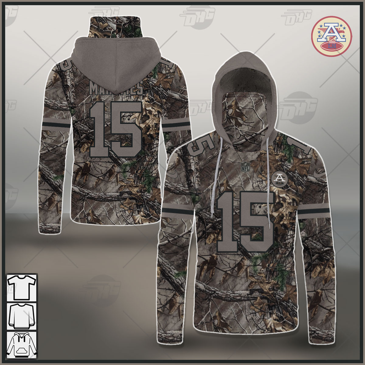NFL Kansas City Chiefs Camo Real Tree Patrick Mahomes Jersey Clothes Hunting Gear Personalized