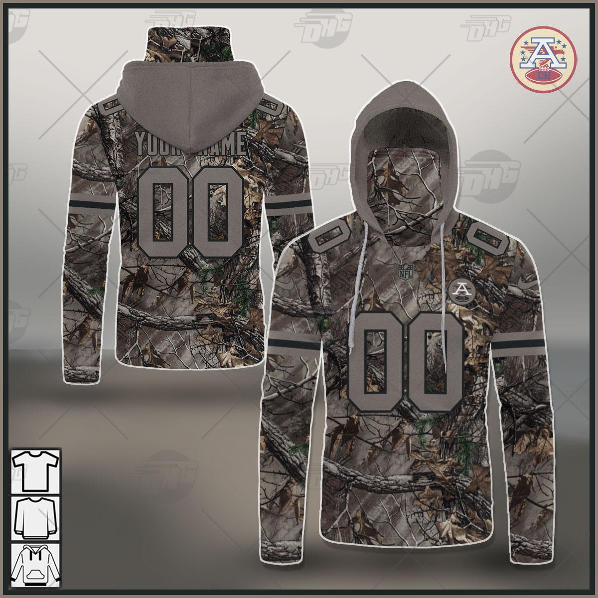 NFL Kansas City Chiefs Camo Real Tree Jersey Clothes Hunting Gear Custom