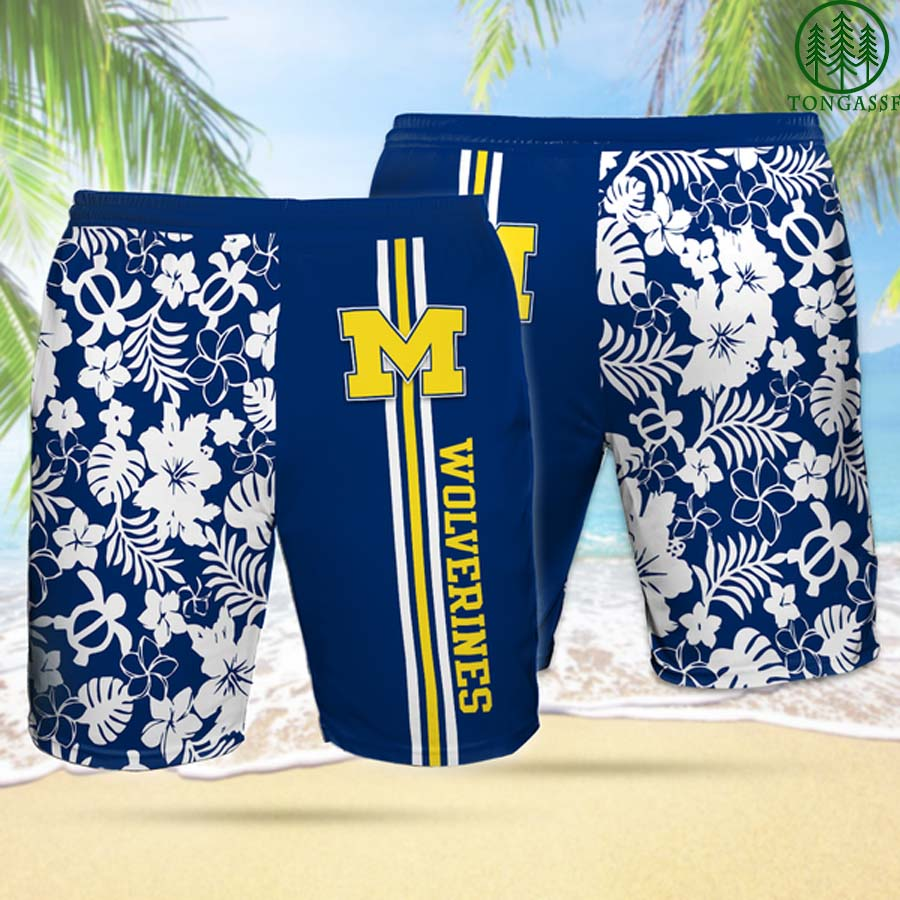 MW MICHIGAN WOLVERINES Hawaiian Shorts