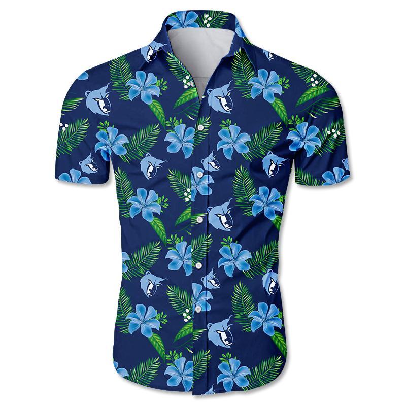 NBA Memphis Grizzlies Floral Hawaiian Shirt Small Flowers