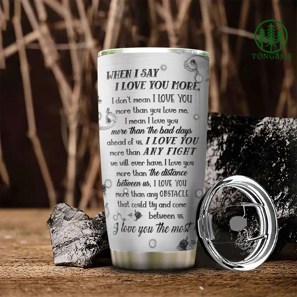 Metal Skull Couple I Love You The Most Stainless Steel Tumbler